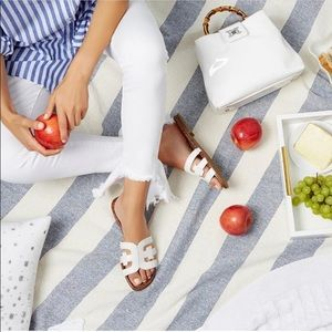NWOT Sam Edelman White Leather Sandals